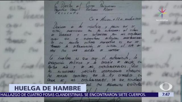 Javier Duarte Inicia Huelga Hambre Reclusorio Norte Exgobernador De Veracruz