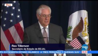 Confirman Muerte Estadounidense Barcelona Secretario Estado Eu Rex Tillerso