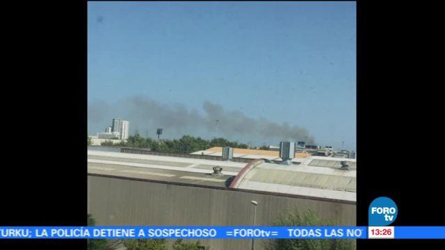 Reportan Incendio Inmediaciones Aeropuerto Barcelona Redes Sociales