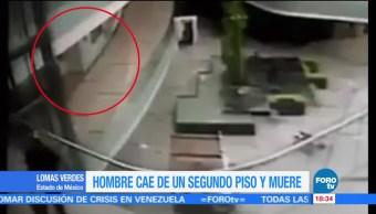 Hombre cae centro comercial Lomas Verdes