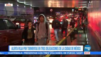 Lluvia provoca inundación en la zona Picacho-Ajusco de la CDMX