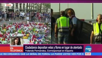 Realizan Muestras Afecto Atentado Terrorista Barcelona