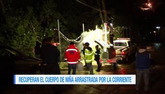 Recuperan el cuerpo de la niña extraviada en Álvaro Obregón