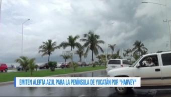 Campeche en alerte por tormenta tropical Harvey