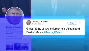 Trump celebra el actuar de la policía de Boston