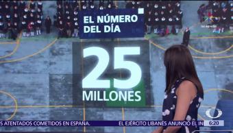 El Número Día 25 millones