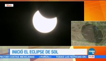 Inicia, el, eclipse, Sol