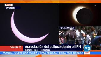 Apreciación, eclipse, solar, IPN