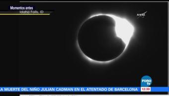 Momento, exacto, oscuridad, eclipse