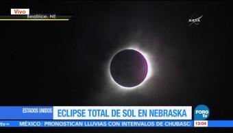 Eclipse Total Sol Nebraska Momento Cumbre