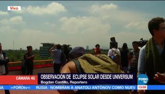 Llegan 500 Personas Instituto Astronomia Eclipse Unam Ciudad De Mexico