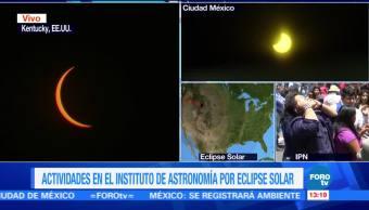 Eclipse Solar Punto Maximo Ciudad De Mexico Instituto Politecnico Nacional