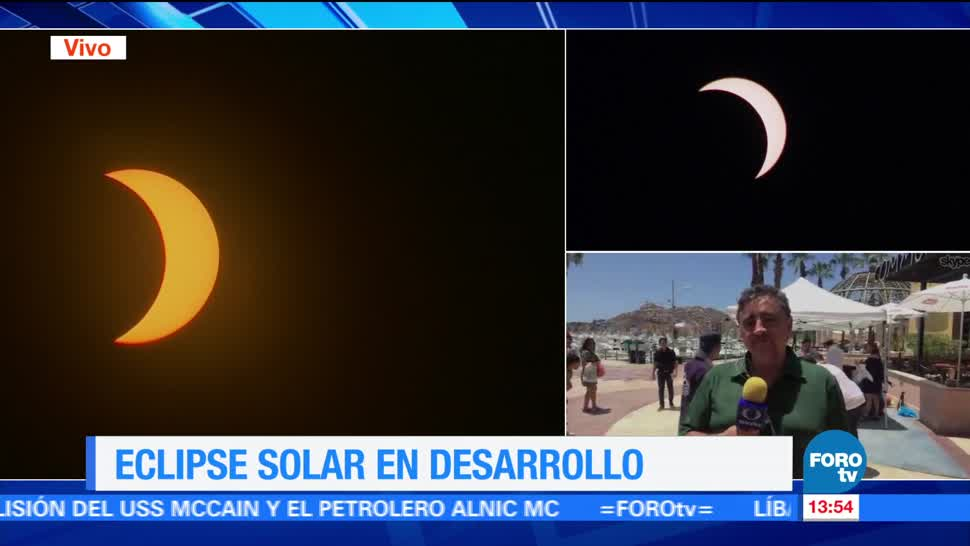 Concluye eclipse solar Baja California Sur