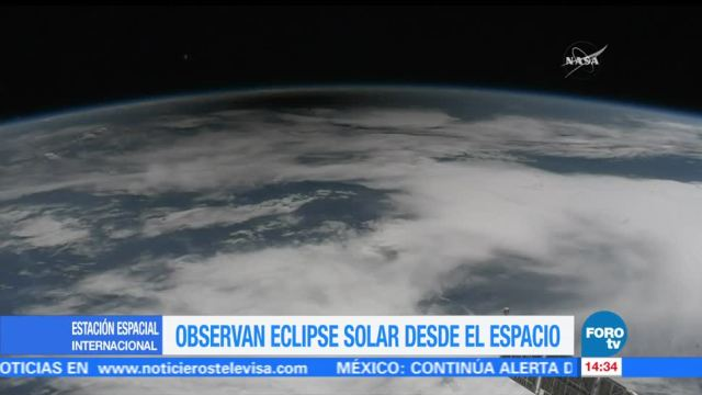 Observan Eclipse Solar Espacio Astronautas Estación Espacial Internacional