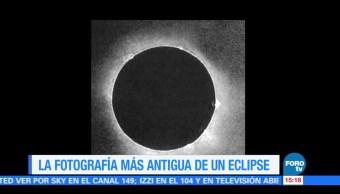 Fotografia Antigua Eclipse Total Sol