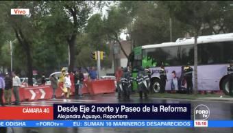 Manifestantes Cierran Avenida Paseo Reforma