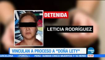 Vinculan Proceso Doña Lety Leticia N