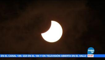 Eclipse parcial solar en México testigo