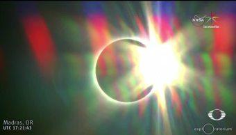 Así eclipse solar México y EU