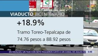 Suben Tarifas Viaducto Bicentenario Circuito Mexiquense