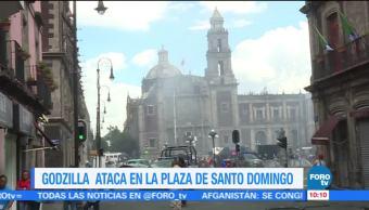 Godzilla Ataca Plaza Santo Domingo