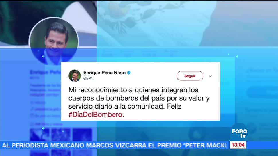 Epn Felicita Bomberos Mexico Presidente Peña Nieto Cuerpo Bomberos