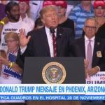 Trump ofrece mensaje desde Phoenix Arizona