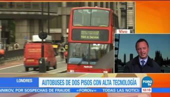 Autobuses, británicos, alta, tecnología