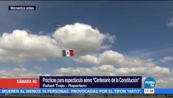 Aeronaves Practican Espectáculo Santa Lucía