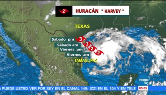 Tamaulipas Texas alerta huracán por Harvey