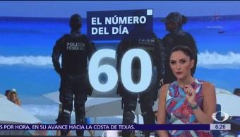 El número del día 60 visitantes