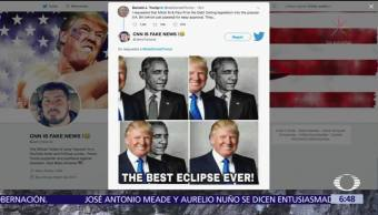 Trump comparte meme eclipse en Twitter
