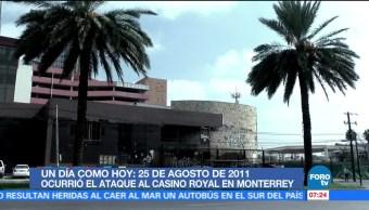 El ataque al Casino Royal Monterrey