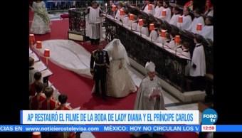 AP restaura filme boda Lady Diana