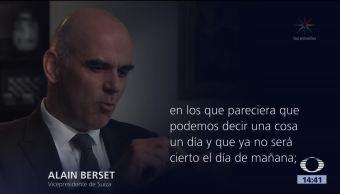 Alain Berset, Futuro Presidente Suiza Habla Politica
