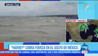 Harvey Acerca Costas Texas Eu Huracán Harvey
