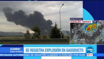 Se registra explosión de gasoducto en el Edomex