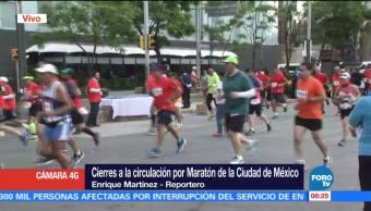 Cortes viales, circulación, Maratón, CDMX