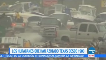 Los siete huracanes que han devastado Texas