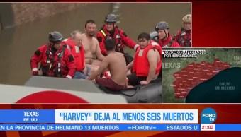 Suman seis muertos por el impacto de 'Harvey' en Texas
