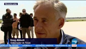 Gobernador, Texas, visita, Trump