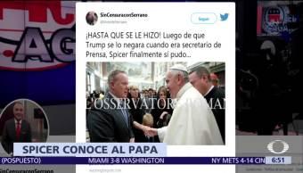 Sean Spicer Casa Blanca Papa Francisco