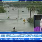 Continúan rescatando gente atrapada inundaciones Texas