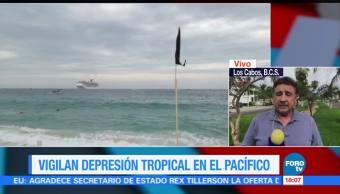 Depresión tropical mantiene en alerta a Baja California Sur