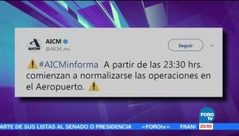 Se normalizan operaciones en el AICM