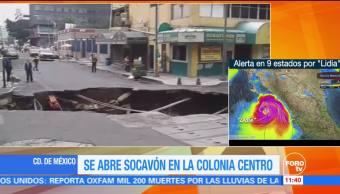 No Reportan Lesionados Socavón Centro