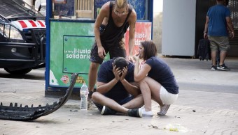 Camioneta atropella a varias personas en Barcelona, España