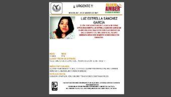 Activan Alerta Ámber para encontrar a Luz Estrella Sánchez García