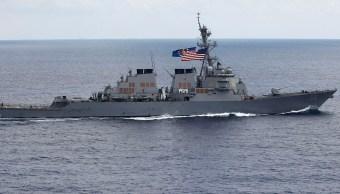 choca destructor estadounidense barco singapur desaparecidos