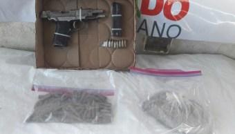 Aseguran cartuchos y un arma de fuego en Sonora